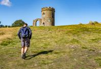 walking up hill